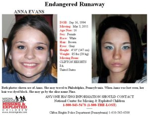 Have you seen Anna Evans?